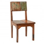 Reclaimed Wood Dining Chair, Set of 4
