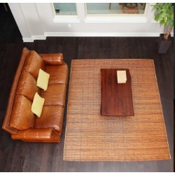 Bali Chestnut Woven Natural Bamboo & Rattan Area Rug, 8' x 10'
