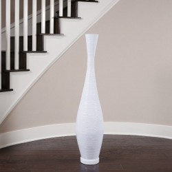 Pure White Trumpet Vase, Large