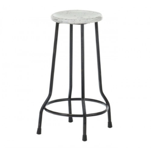 Farmhouse 26 in. Bar Stool, White
