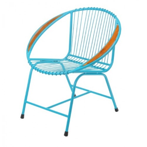 Brooklyn Metal Wire Chair, Blue