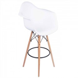 Eames Arm Chair White w/ Bar Stool Legs