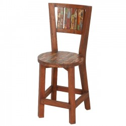 Reclaimed Boat Wood Cottage Dining Chair