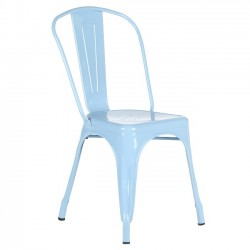 Metal Tolix-style Cafe Chair, Blue