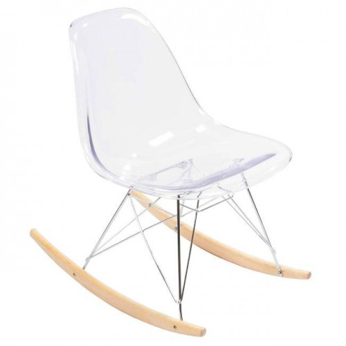 Eames Clear Seat with Rocker Legs