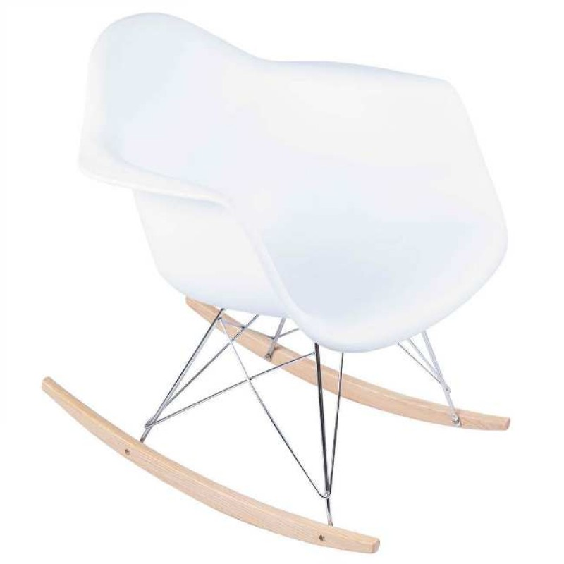 Fantastic Eames Rocking Chair Mid Century Modern White Bralicious Painted Fabric Chair Ideas Braliciousco