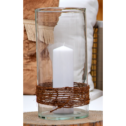Rope Wrapped Glass Candle Dome